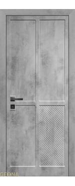 Межкомнатная дверь Фуджи-1 ПВХ-шпон Бетон светлый