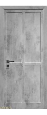Межкомнатная дверь Фуджи 4 ПВХ-шпон Бетон светлый