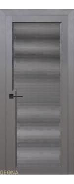 Межкомнатная дверь Уника 2 ПВХ-шпон Софт графит