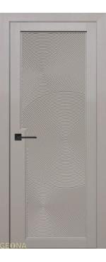 Межкомнатная дверь Уника 5 ПВХ-шпон Софт мокко
