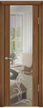 Дверь Люкс 1/3 триплекс с зеркалом