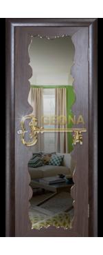 Дверь Милана с зеркалом
