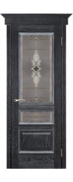 Дверь Вена черная патина